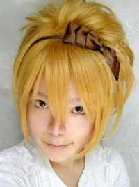 Vocaloid Rin the Sandplay Singing of The Dragon Cosplay Perruque