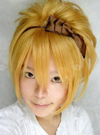 Vocaloid Rin the Sandplay Singing of The Dragon Cosplay Wig