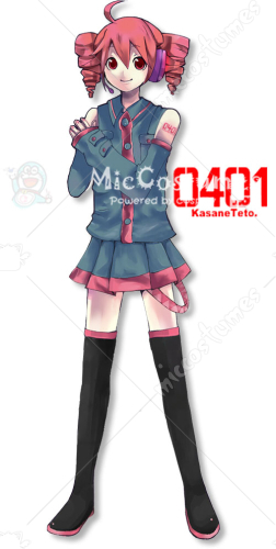 Vocaloid 重音テト Cosplay Tattoo Sticker