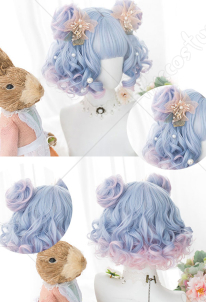 Halloween Cosplay Fairy Unicorn Cosplay Wig Short Curly Wig