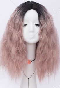Halloween Cosplay Witch Cosplay Wig Gradient Color Party Wig Short Curly Wig