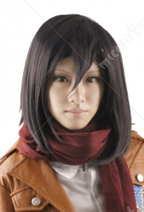 Attack on Titan Mikasa Ackerman Cosplay Perruque