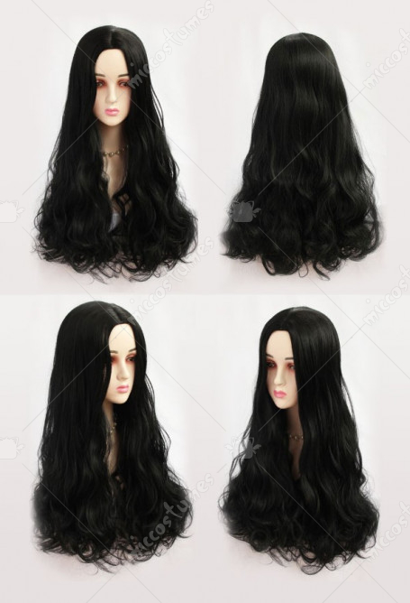 The Addams Family Morticia Addams Wednesday Addams Cosplay Wig