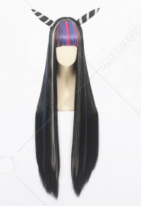 Danganronpa 2 Goodbye Despair Ibuki Mioda Long Straight Multi Color Cosplay Wig