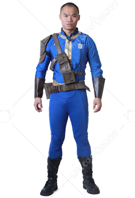 Fallout 4 Sole Survivor Male Cosplay Costume with Belts Set  sc 1 st  Miccostumes.com & Fallout 4 Male Cosplay Costume with Belts Set
