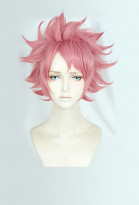 Fairy Tail Natsu Dragneel END Short Pink Cosplay Wig