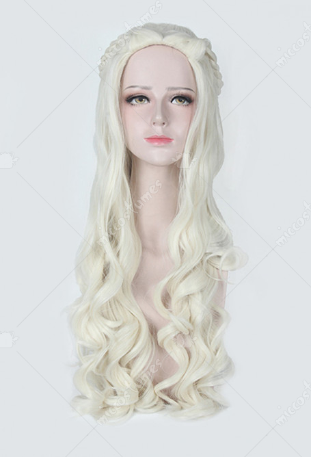 Game of Thrones A Song of Ice And Fire Daenerys Targaryen Cosplay Wig