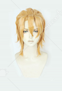 JoJos Bizarre Adventure Golden Wind Pannacotta Fugo Short Blonde Cosplay Wig