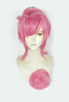 JoJos Bizarre Adventure Golden Wind Trish Una Short Pink Cosplay Wig