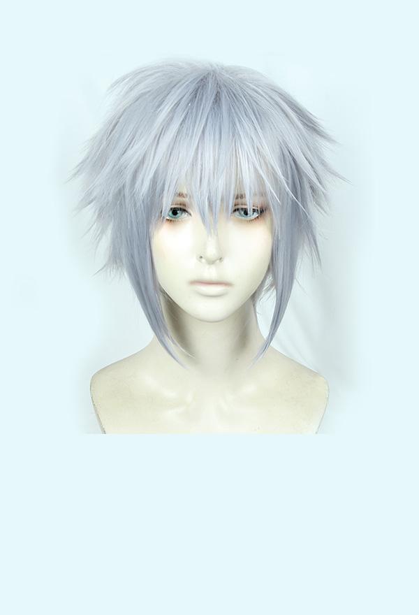Kingdom Hearts III Riku Silber Cosplay Perücke