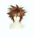 Kingdom Hearts III Sora Brown Explosive Short Cosplay Wig