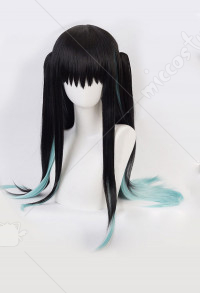 Demon Slayer Kimetsu no Yaiba Mist Pillar Yuichiro Tokito Cosplay Long Wig