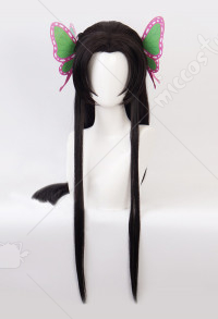 Demon Slayer Kimetsu no Yaiba Kochou Kanae Flower Hashira Cosplay Wig with Butterfly Hairpin