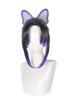 Demon Slayer Kimetsu no Yaiba Kochou Shinobu Cosplay Wig Widow Butterfly Curly Wig