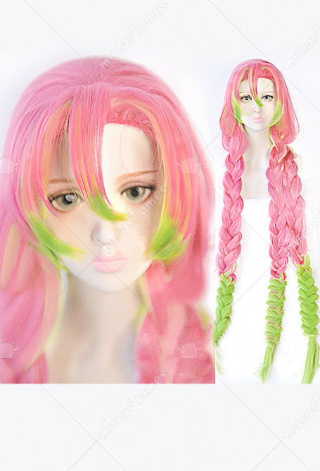 Demon Slayer Kimetsu No Yaiba Cosplay Mitsuri Kanroji Cosplay Wig Wig For Sale The list of characters in demon slayer: demon slayer kimetsu no yaiba mitsuri kanroji thick braid green pink gradient color cosplay wig