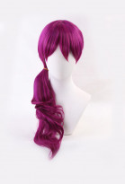 League of Legends KDA Pop Star Evelynn Rose Red Spiral Roll Gradient Cosplay Wig