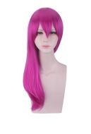 League of Legends KDA Pop Star Evelynn Rose Red Spiral Roll Gradient Cosplay Wig