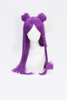 League of Legends KDA Pop Star Kaisa Purple Long Straight Cosplay Wig