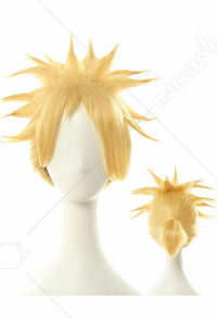 League of Legends Cosplay Battle Academia Ezreal Cosplay Wig Short Gold Wig