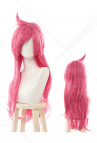 League of Legends Battle Academia Katarina Cosplay Pink Slightly Curly Long Wig