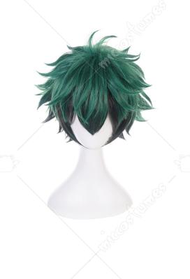 2 Colors Cosplay My Hero Academia Deku Izuku Midoriya Short Wig Synthetic Hair