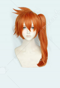 Mon Hero Academia Kendo Itsuka Orange Queue de Cheval Cosplay perruque