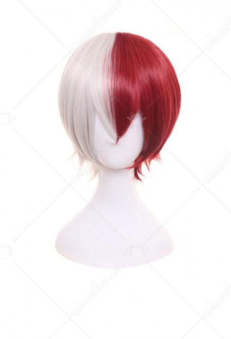 My Hero Academia Todoroki Shoto Mixed Red & White Cosplay Wig