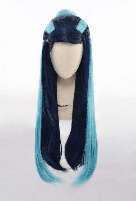 Pokemon Sword and Shield Nessa Rurina Long Blue Straight Cosplay Wig