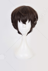 Bungo Stray Dogs Osamu Dazai Cosplay Dark Brown Short Wig