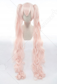 Vocaloid Perruque de Cosplay Miku Hatsune Sakura Longue Rose