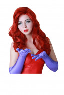 Jessica Rabbit Red Dress Gown Cosplay Wig