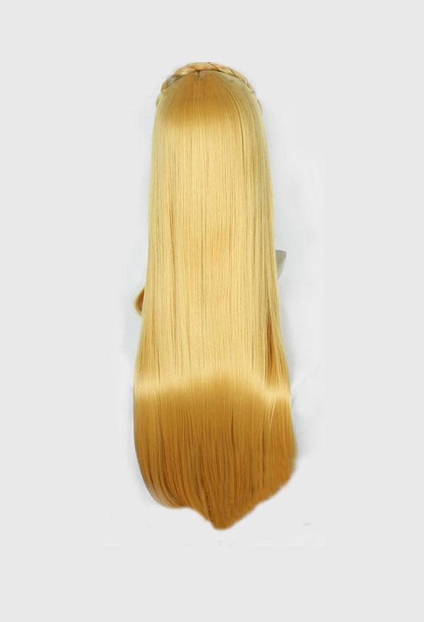 Legend of Zelda Breath of the Wild Blond Lang 80cm Cosplay Perücke