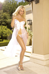 White Gown with Matching Panties