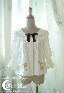 White Moon Cotton Embroidery Lace Blouse