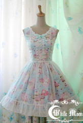 White Moon Strawberry Mousse Cake Lolita Dress
