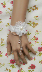 White floral lace lolita wrist band