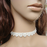 White flower lace lolita necklace