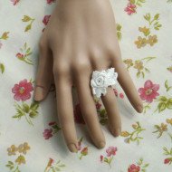 White lace lolita ring