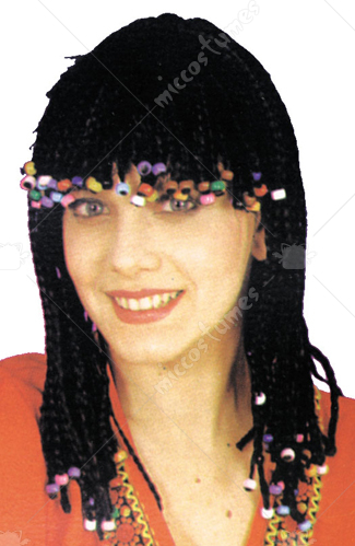 Corn Row Wig With Beads