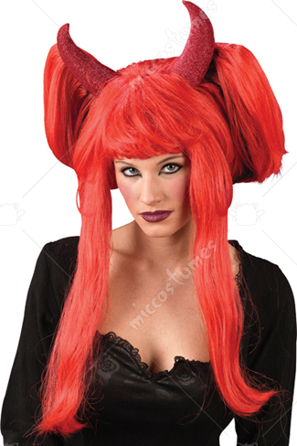 Devil 22 Inches Long Wig