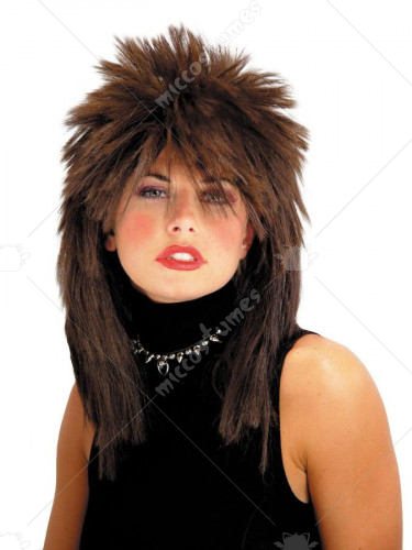 Spiked Top Wig Brown