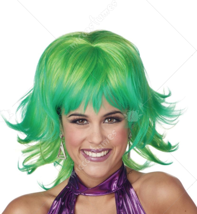 Trippy Shag Lemon Lime Wig