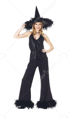 Witch Glamour Adult Black Costume
