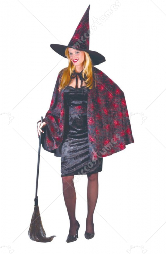 Witch Glitter Chip Orange Costume