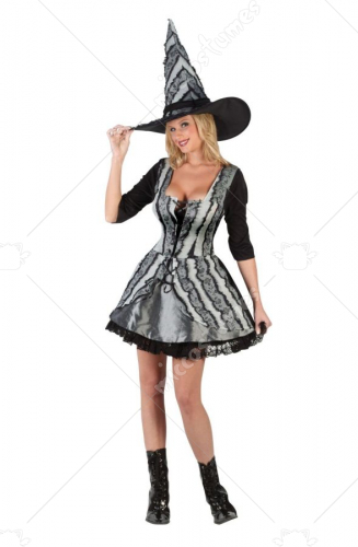 Witch Goth Rose Costume