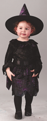 Witch Spiderweb Glitter Toddler Costume