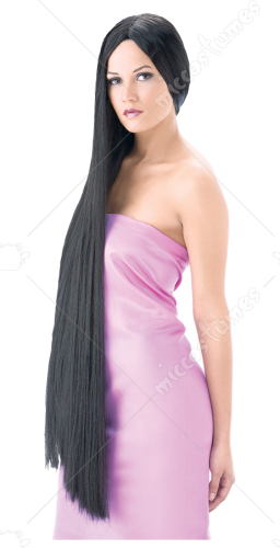 Witch Wig 43 Inch Black Super