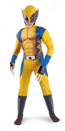 Wolverine Classic Muscle Costume