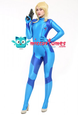 Metroid Samus Aran Zero Suit Cosplay Costume
