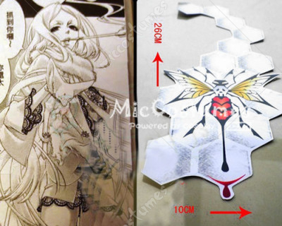 ZONE 00 KIRITSUBO Cosplay Tattoo Sticker